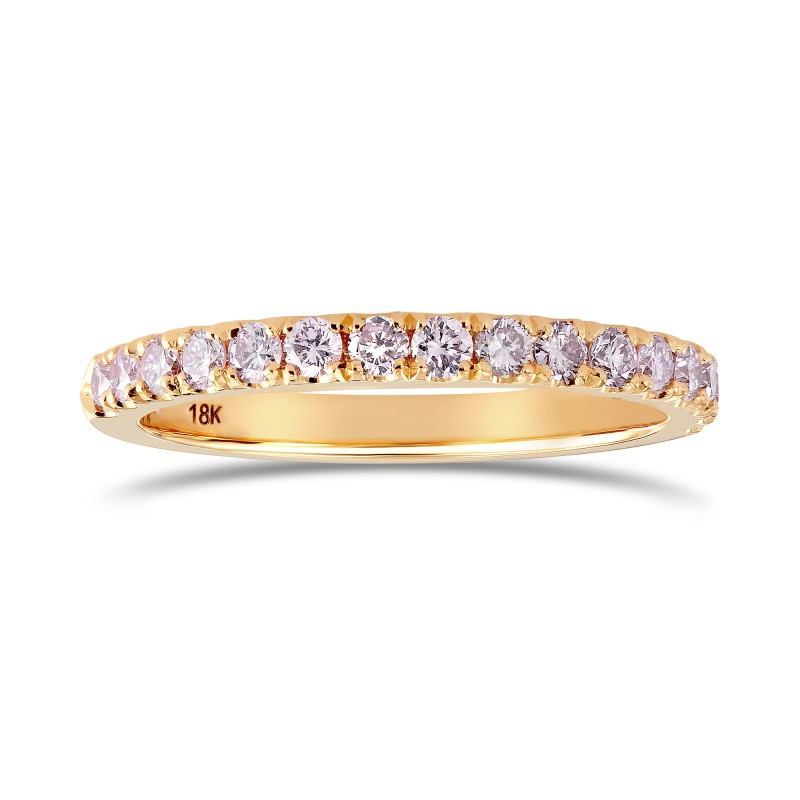Fancy Light Pink Diamond half Eternity Wedding Ring, SKU 24924R (0.30Ct TW)