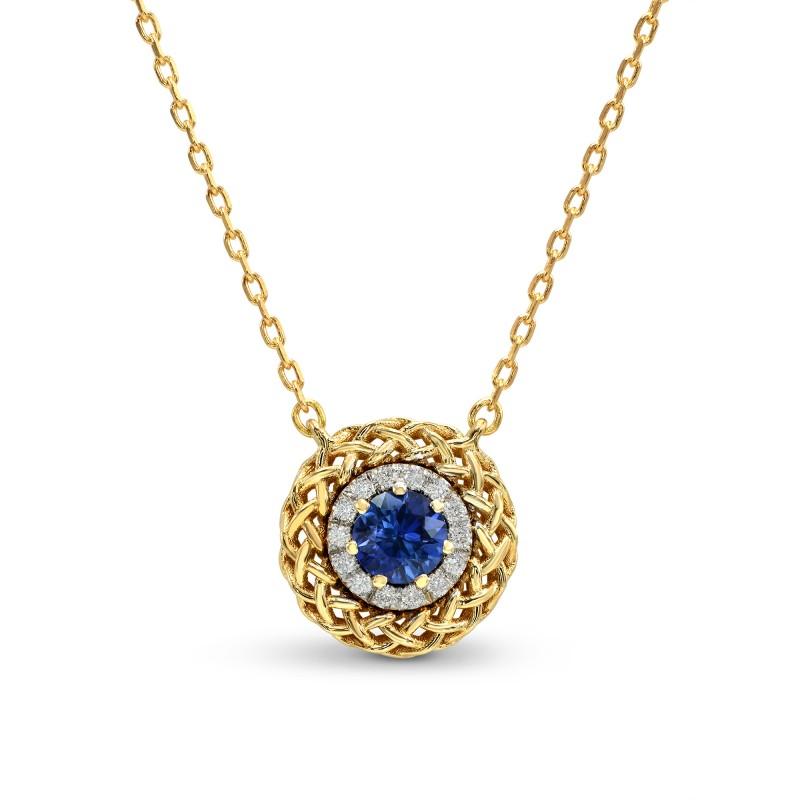 Sapphire & Diamond Basket Pendant, ARTIKELNUMMER 26149R (0,36 Karat TW)