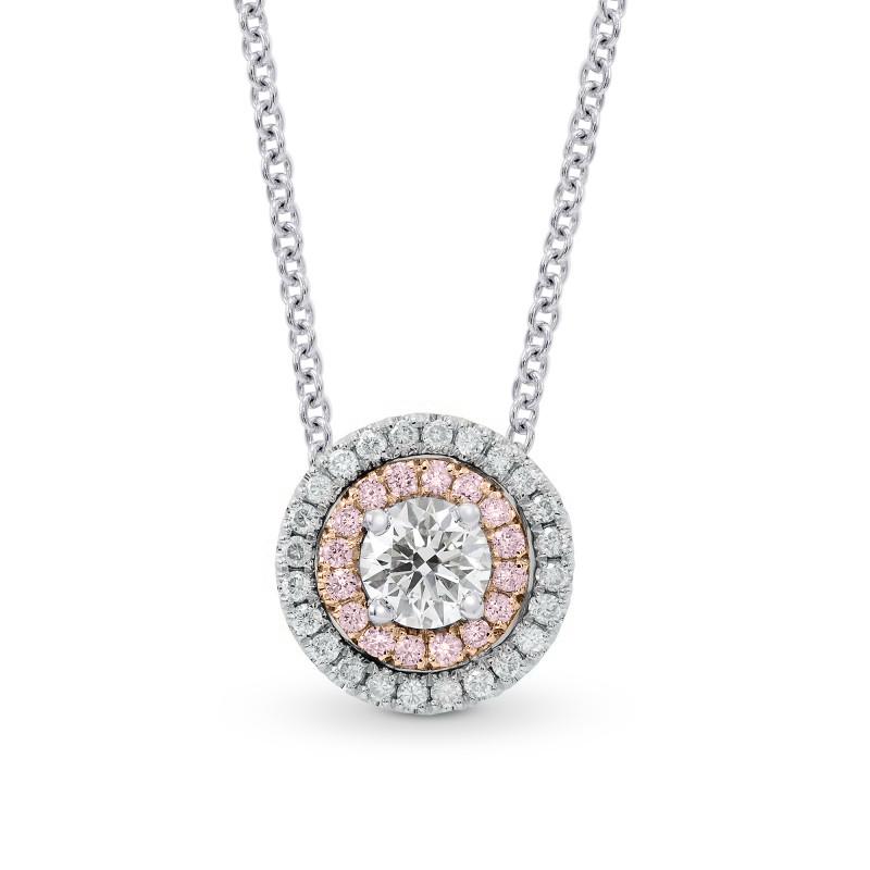 White pink white diamond round double halo pendant sku 26456r white pink white diamond round double halo pendant sku 26456r 069ct tw aloadofball Choice Image