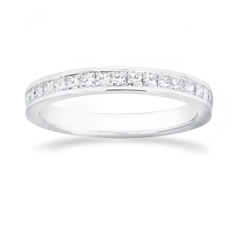 Princess Diamond Half Eternity Wedding Ring, SKU 26474R (0.50Ct TW)