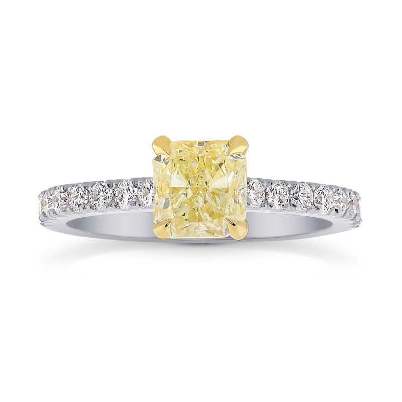 Fancy Yellow Cushion & Pave Diamond Ring, SKU 26820R (1.50Ct TW)