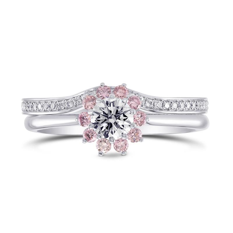 Gia white and pink diamond engagement wedding ring set sku 27465r gia white and pink diamond engagement wedding ring set sku 27465r 100ct tw junglespirit Choice Image