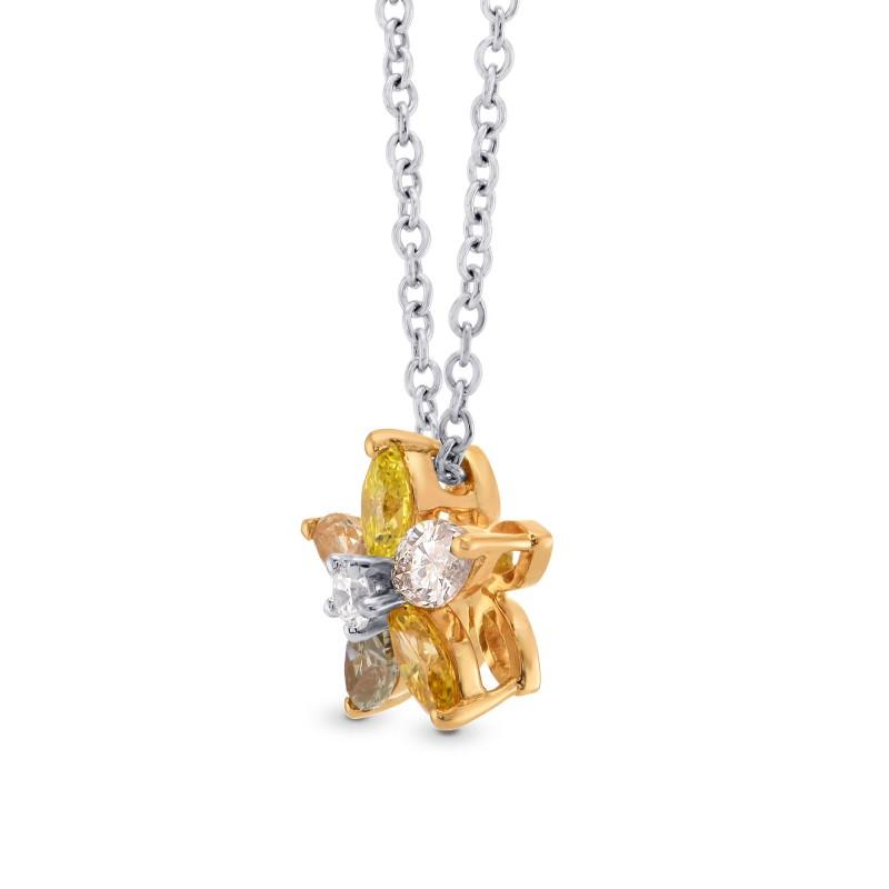 Multicolor Marquise Diamond Pendant, SKU 275009 (0.47Ct TW)