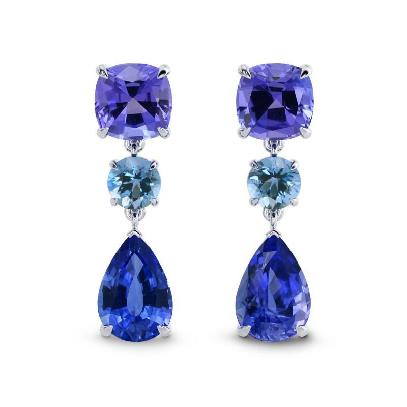 Sapphire Tanzanite & Aquamarine Earrings, ARTIKELNUMMER 27853L (5,94 Karat TW)