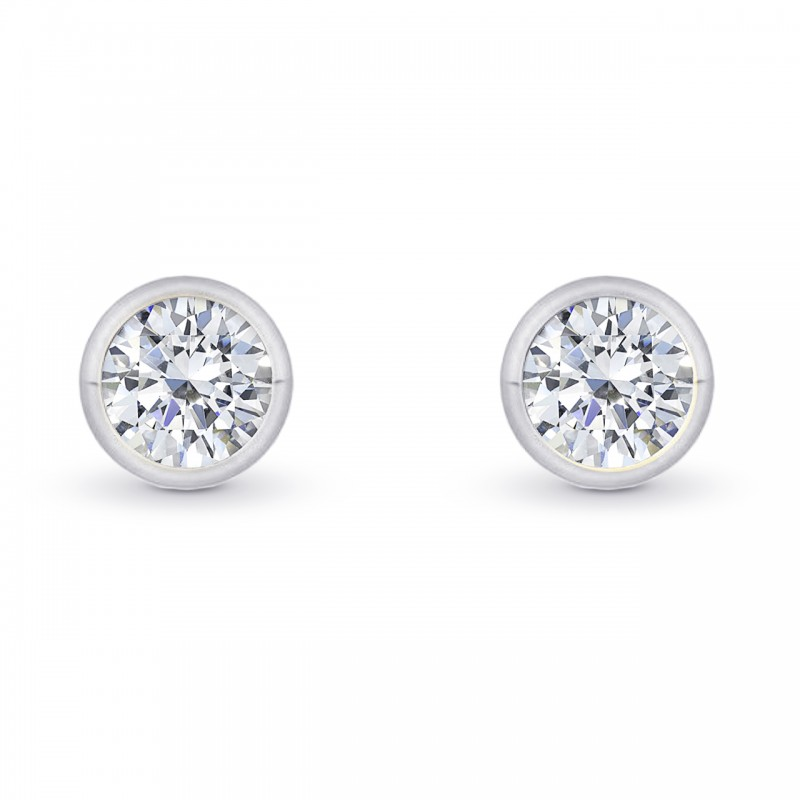 earrings set three e diamond ct tw cttw stone bezel