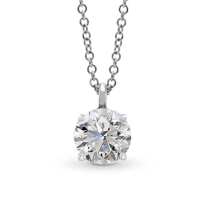 gold solitaire with image chain diamond quot white pendant