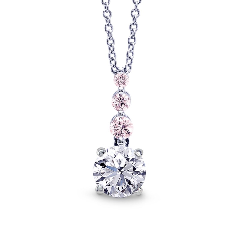 and index flower magnificent tennis necklace white pink diamond jewelry