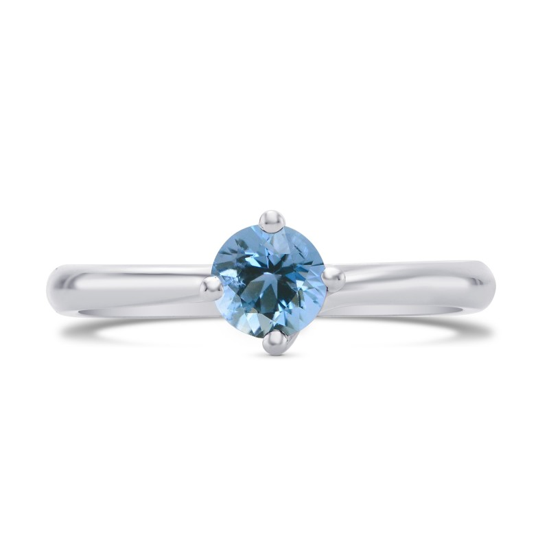 Sky Blue Round Aquamarine Spiral Solitaire Ring, SKU 27918R (0.25Ct)