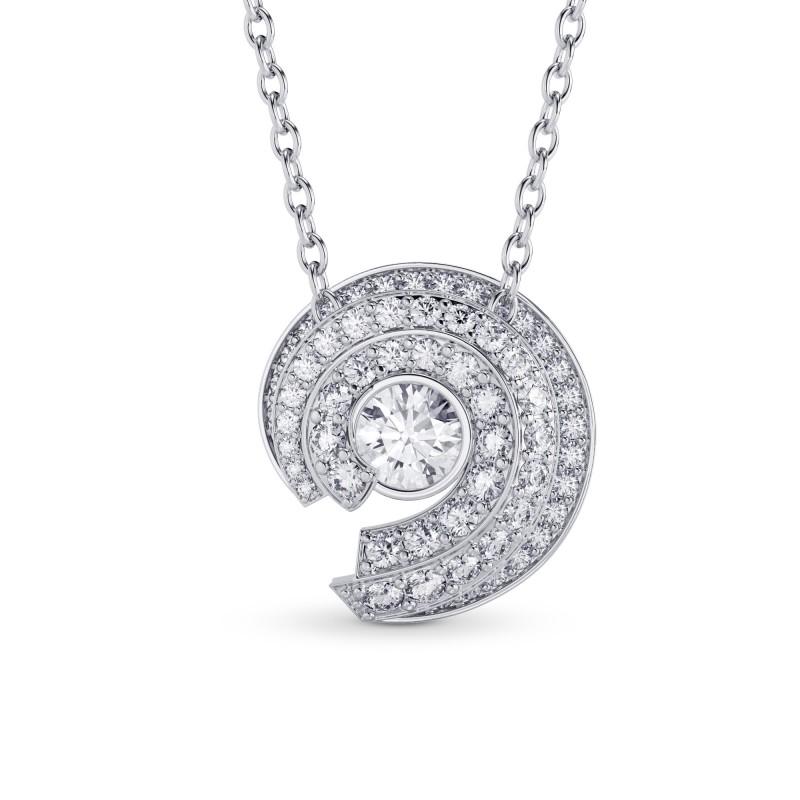 Spiral Round Diamond Pendant, SKU 27969R (0.74Ct TW)