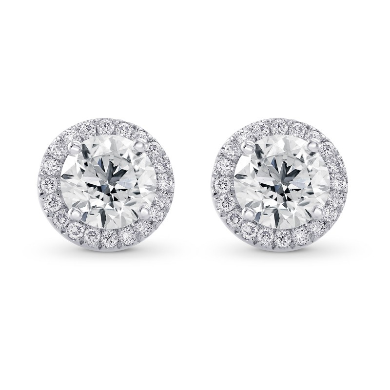 Open Pave Halo Earring Settings, SKU 28091S