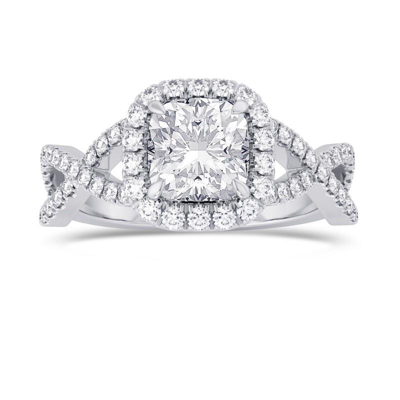 Cushion Diamond Cross-over Halo Ring, SKU 28095R (1.95Ct TW)
