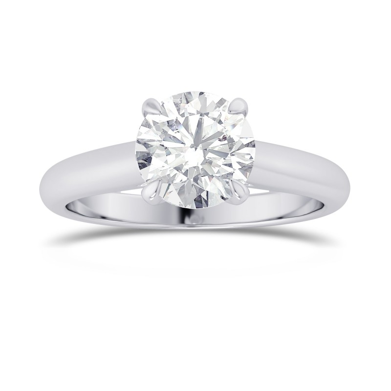 GIA, 1.00Ct Round Brilliant Diamond, Cathedral Shank Solitaire Ring, SKU 28112R (1.00Ct)