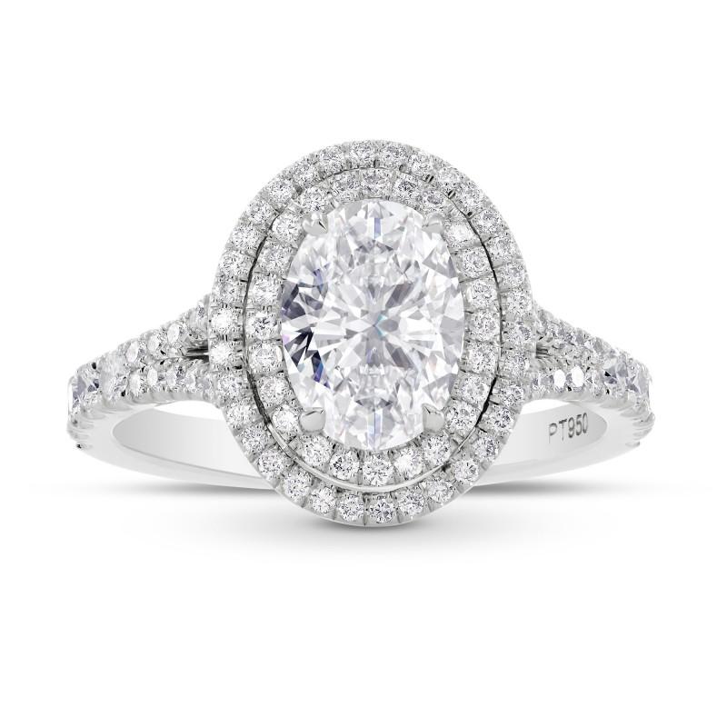 GIA Oval Diamond Double Halo Ring, SKU 28128R (2.10Ct TW)