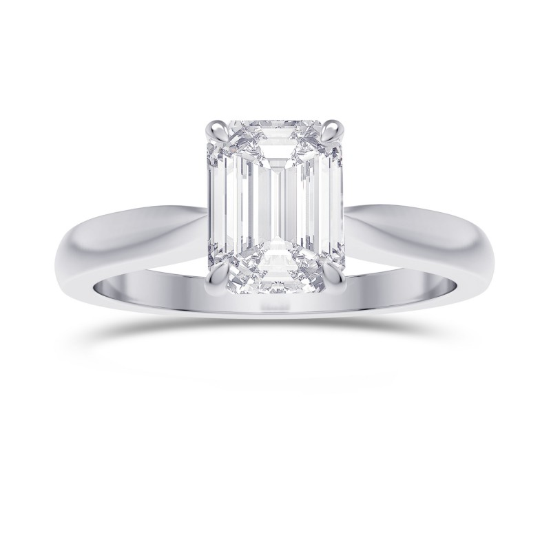 1.00ct. GIA Cathedral Emerald shape Diamond Solitaire Ring, SKU 28151R (1.00Ct)