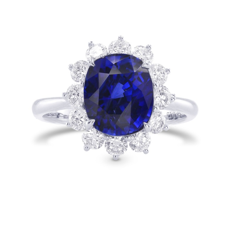 Royal Vivid Blue Sapphire & Diamond (Diana) Ring, SKU 283757 (4.47Ct TW)