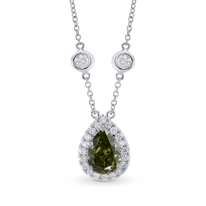 Chameleon Pear Diamond Halo Pendant, SKU 28448L (1.75Ct TW)