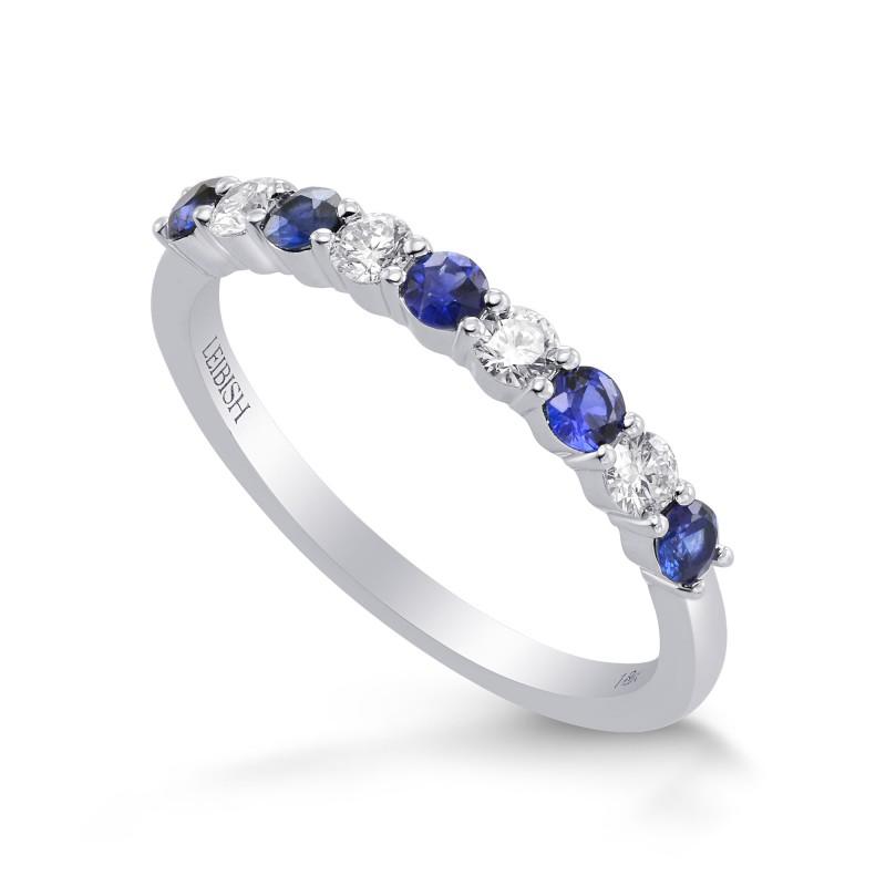 Sapphire & Diamond Band Ring, SKU 287880 (0.58Ct TW)