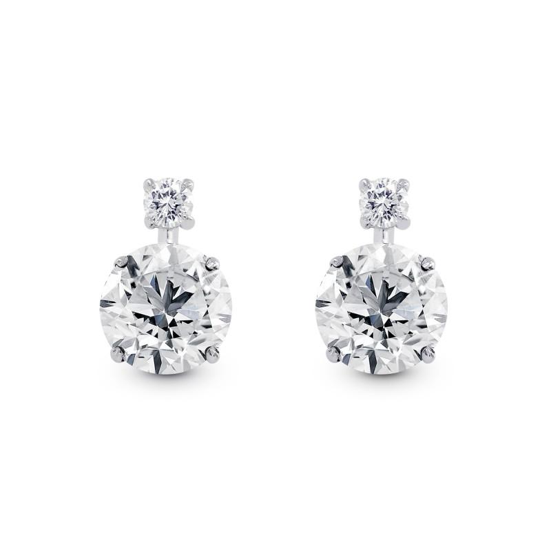 Round Brilliant Diamond Earrings, SKU 28820L (3.14Ct TW)