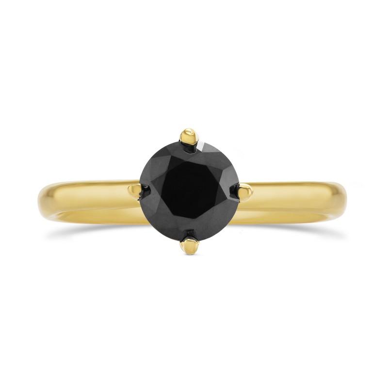 Round Black Diamond Solitaire Ring, SKU 291264 (1.24Ct)