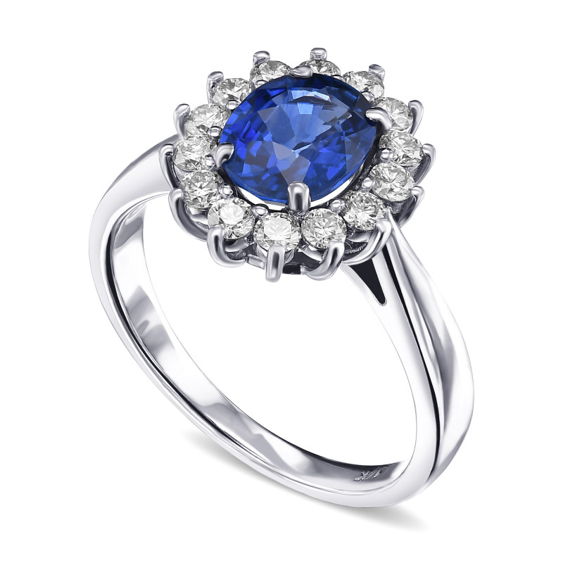 Heated Oval Sapphire and Diamond