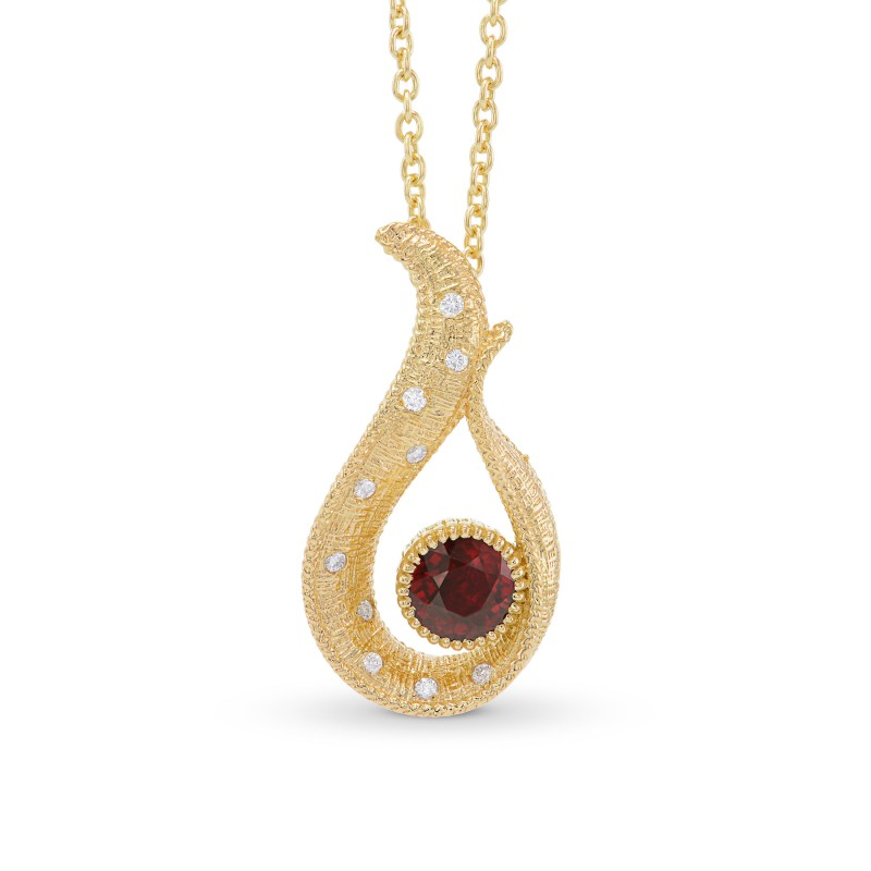Pigeon Blood Red Ruby Drop Pendant, SKU 301328 (0.65Ct TW)