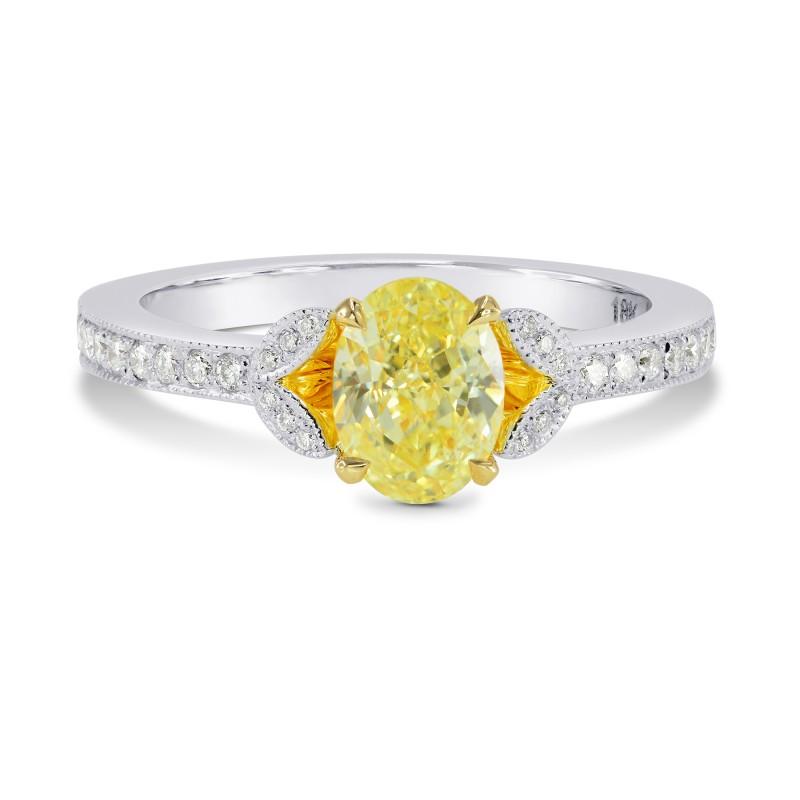 Leaf Motif Pave Diamond Side-stone Ring Setting, SKU 3023S