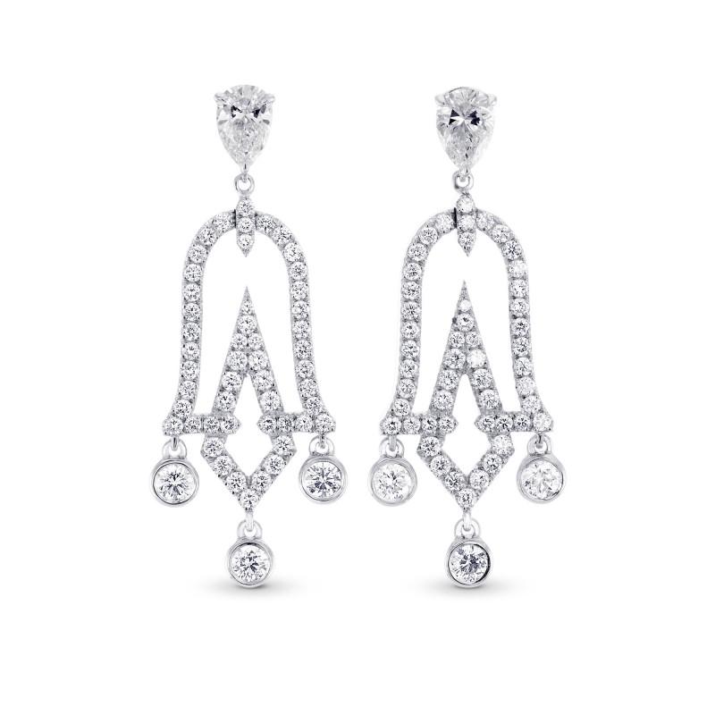 Chandelier Pear Shape Drop Earrings, SKU 302695 (1.79Ct TW)