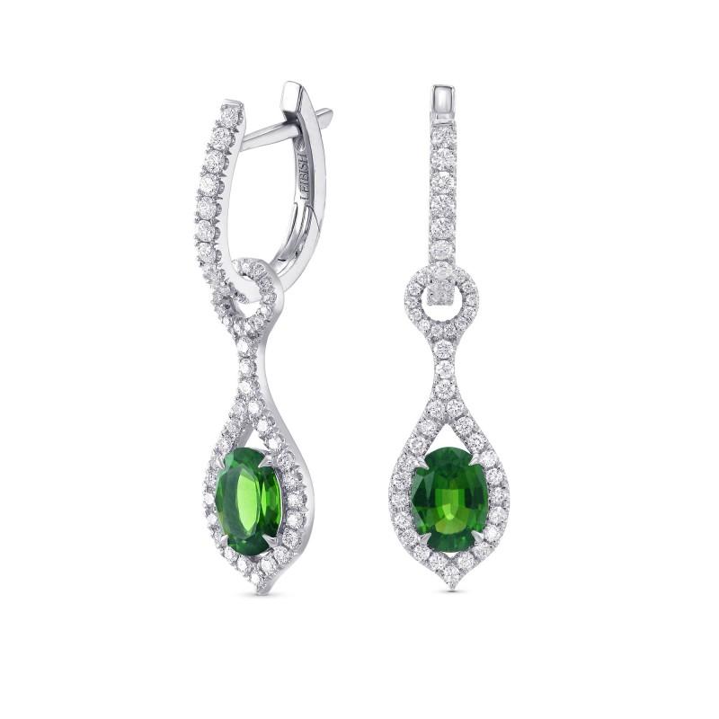 Mood Design Gemstones and Diamond Halo Drop Earrings, SKU 311744 (8.27Ct TW)