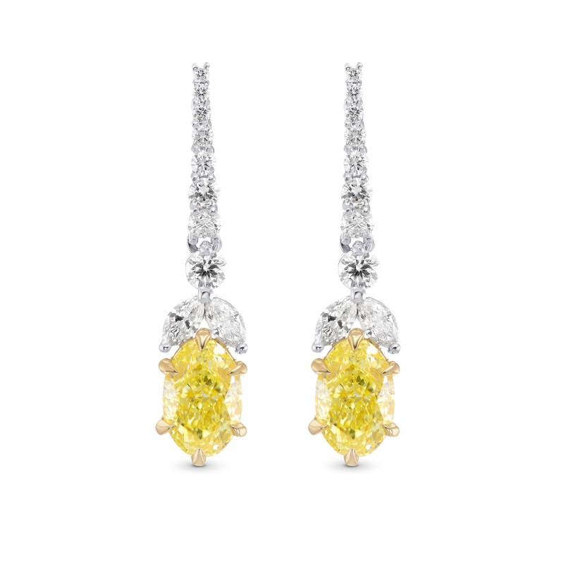 Fancy Intense Yellow Diamond Drop Earrings Sku 320700 2 72ct Tw