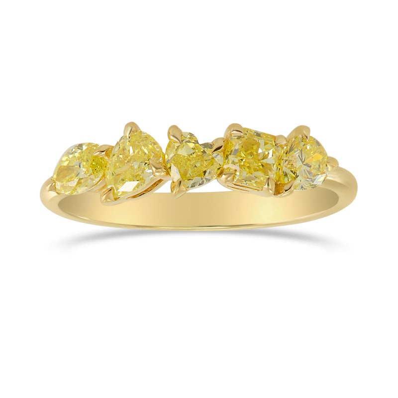 Fancy Yellow Mix Shape Band Ring, SKU 328343 (1.01Ct TW)