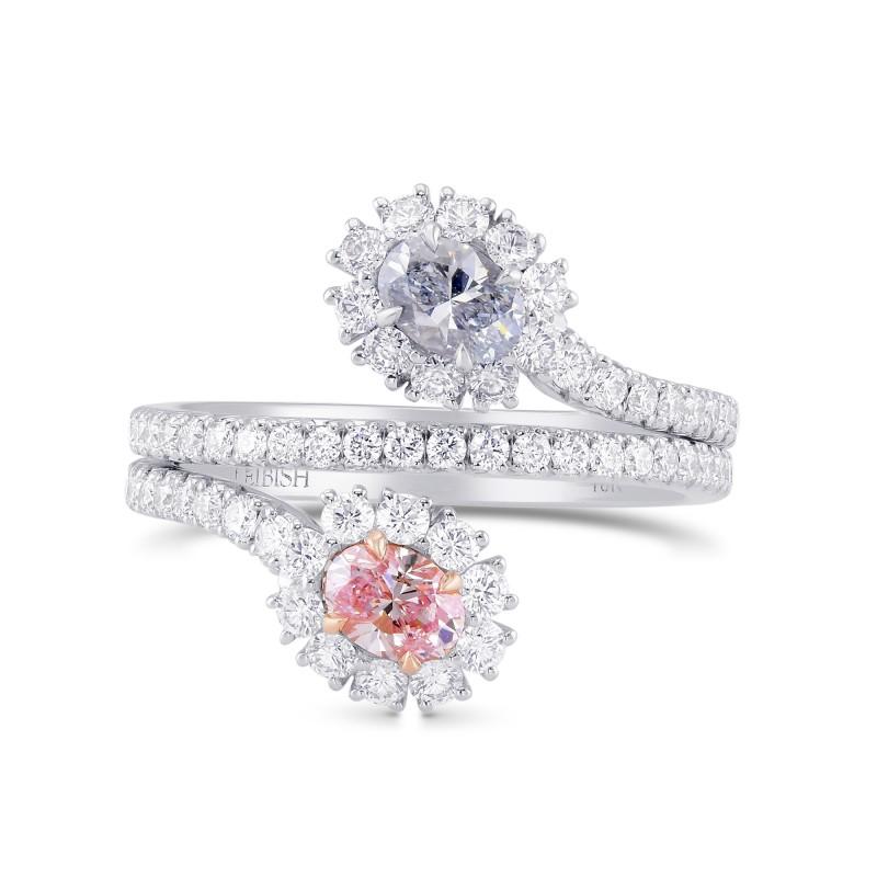 Oval Shape 2 Stones Halo Diamond Ring, SKU 343574 (1.51Ct TW)