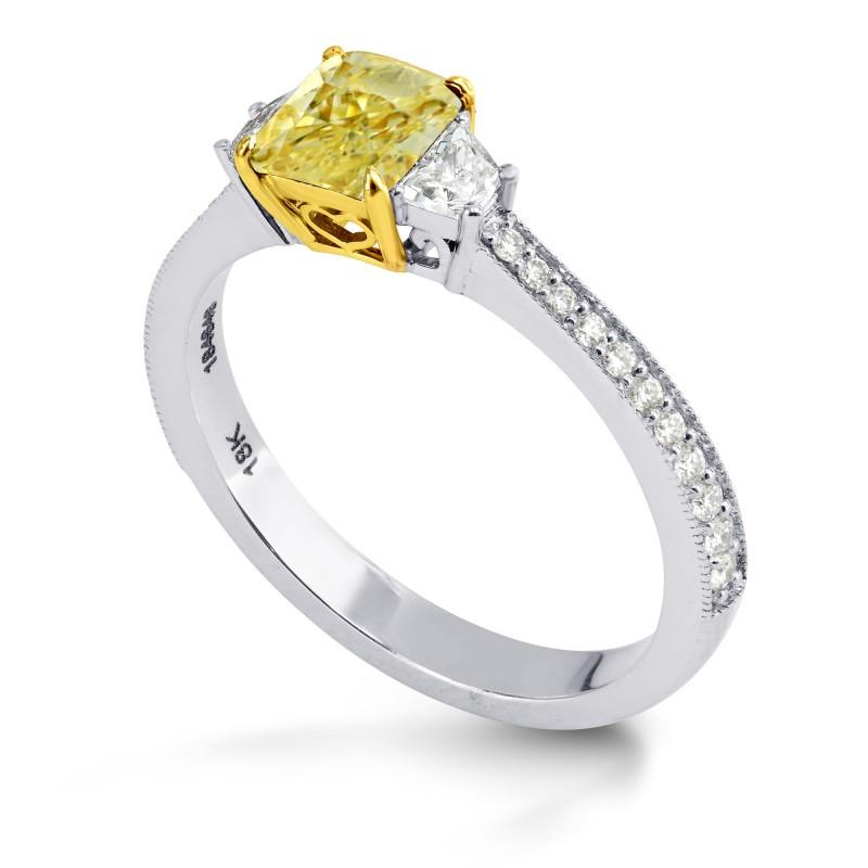 Trapezoid Side-stone Milgrain Ring Setting, SKU 40049S