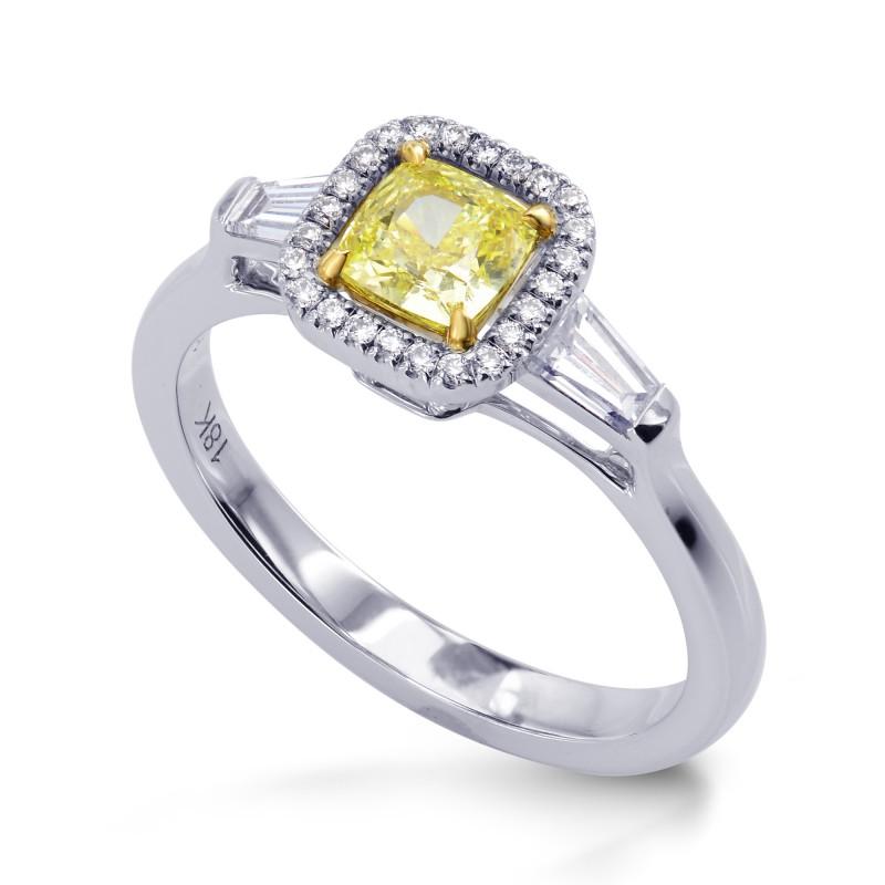 Cushion Halo and Taper Diamond Ring Setting, SKU 40104S