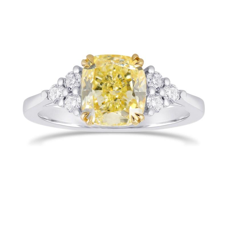 9.02 Carat Yellow Brilliant Accented Diamond Ring by Leibish