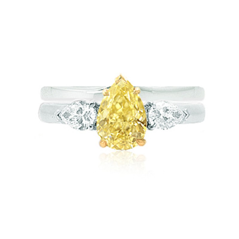 Engagement 3 Stone Pear & Wedding Ring Setting, SKU 40397WS