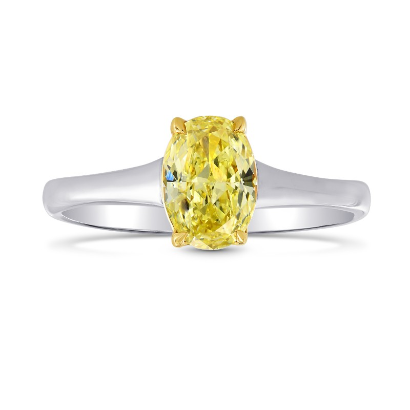 Fancy Intense Yellow Diamond Solitaire Ring, SKU 68834 (1.01Ct)