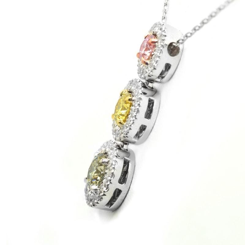 Multicolor diamond pendant, SKU 72222 (1.40Ct TW)
