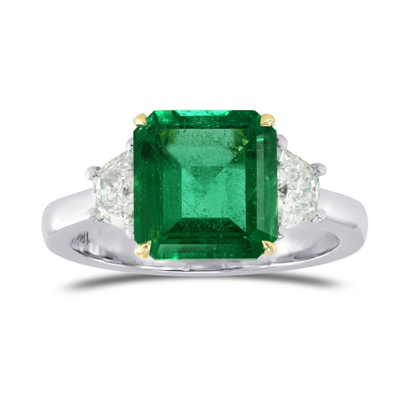 Emerald Gemstone & Trapezoid Diamond Ring, SKU 77973 (2.81Ct TW)