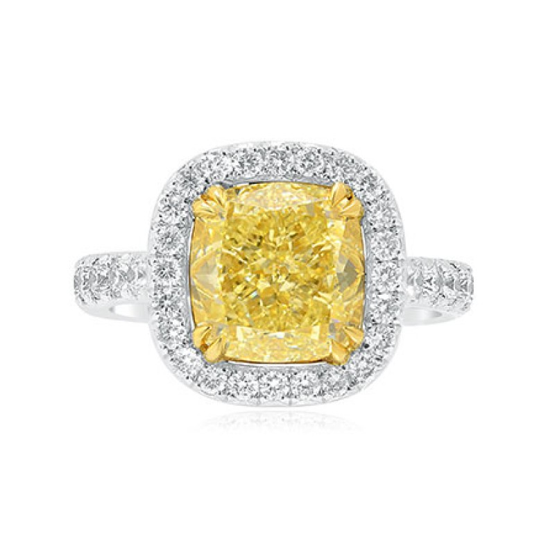 Fancy Light Yellow, SKU 87261 (4.5Ct TW)