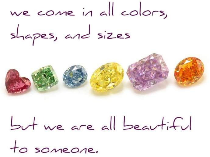 All colors, shapes, and sizes