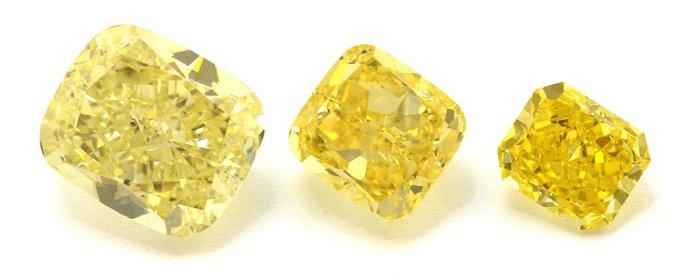 Comparison of Yellow Diamond Intensities