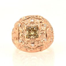 Fancy Brown Yellow Diamond Ring
