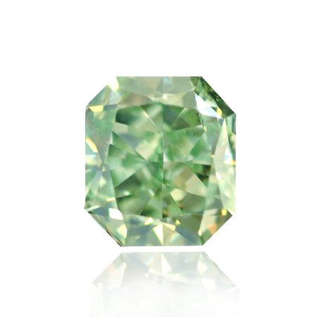 0.14 Carat, Fancy Intense Green Diamond, Radiant