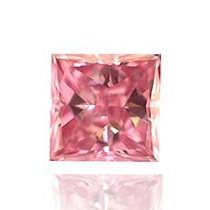 0.14 carat Fancy Intense Pink Princess