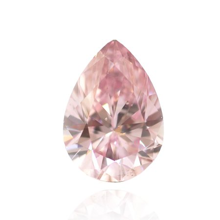 0.16 Carat, Fancy Intense Purplish Pink Diamond, Pear, SI1