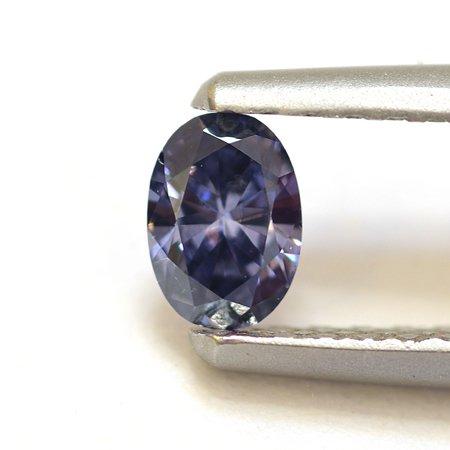 Argyle-Diamant in Fancy-Tiefblau mit leichtem violettem Einschlag (Fancy Deep Violetish Blue) mit 0,17 Karat