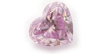 0.18 Carat, Fancy Pinkish Purple Diamond, Heart, SI2