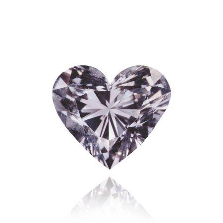 Diamant in Herzform in Fancy-Violett-Grau mit 0,25 Karat