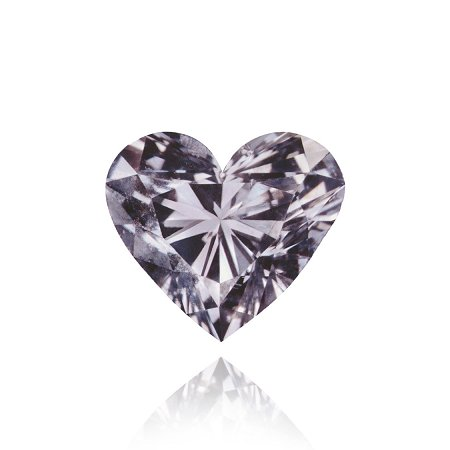 0.25 ct Fancy Violet Gray diamond heart shaped diamond