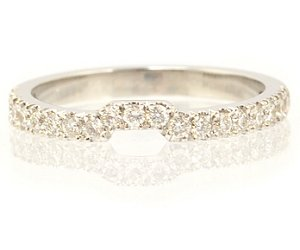 0.26 Carat, Round Brilliant Wedding Band,